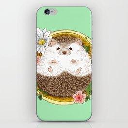 Hedgehog with cactus iPhone Skin