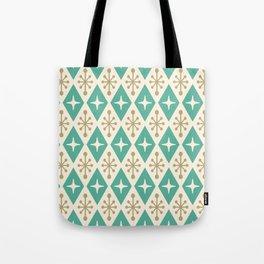 Mid Century Modern Atomic Triangle Pattern 105 Tote Bag