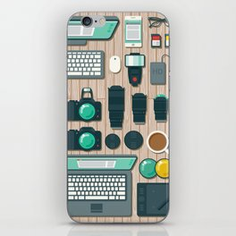 Photographer's Workspace iPhone Skin