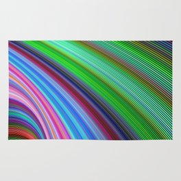 Striped Vortex Rug