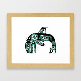 Native American Orca Framed Art Print
