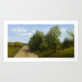 Country road in Carnation, WA Art Print