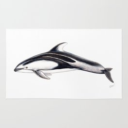Pacific white-sided dolphin Rug