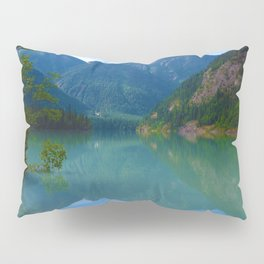 Morning Reflections on Kinney Lake in Mount Robson Provincial Park, British Columbia Pillow Sham