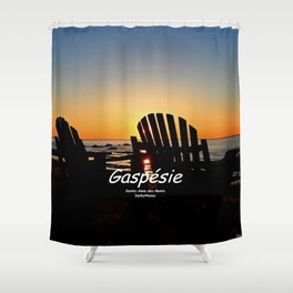 Chairs and Sunset, revisited Shower Curtain