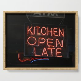 Kitchen Open Late Serving Tray