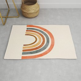 Abstract Rainbow 88 Rug