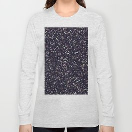 Modern abstract purple lavender lime green confetti Long Sleeve T-shirt