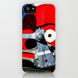 Vintage Steam Engine Locomotive Driving Wheel Eccentric And Rods iPhone Case