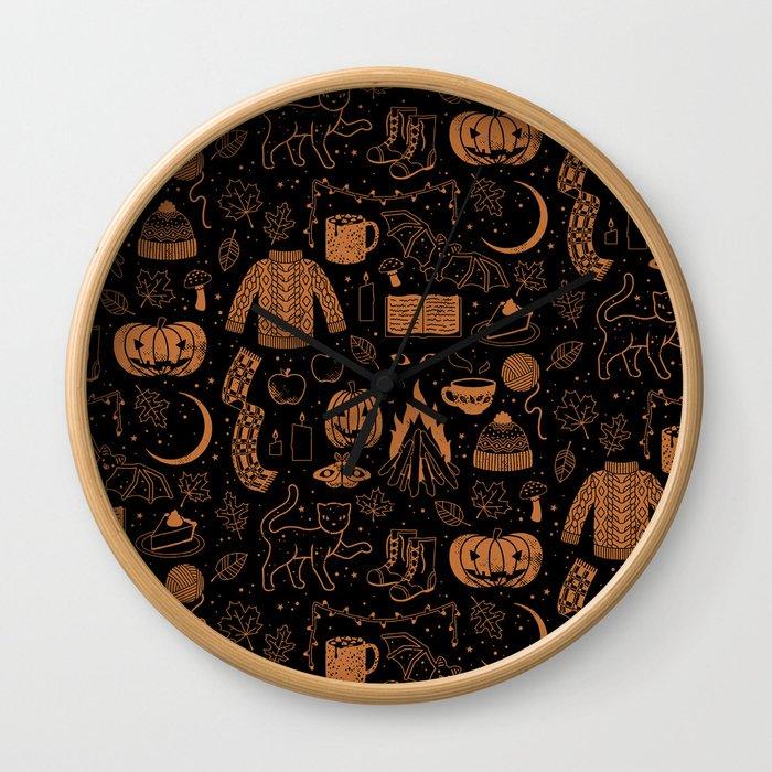 Autumn Nights: Halloween Wall Clock