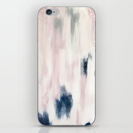 Blush Pink and Blue Pretty Abstract iPhone Skin