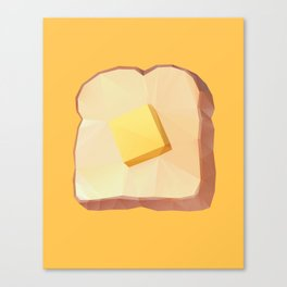 Toast with Butter polygon art Canvas Print