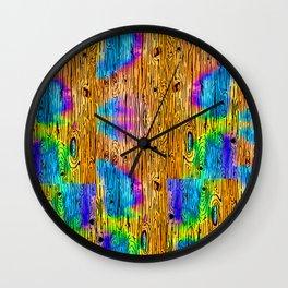 Technicolored Dream Plank Wall Clock