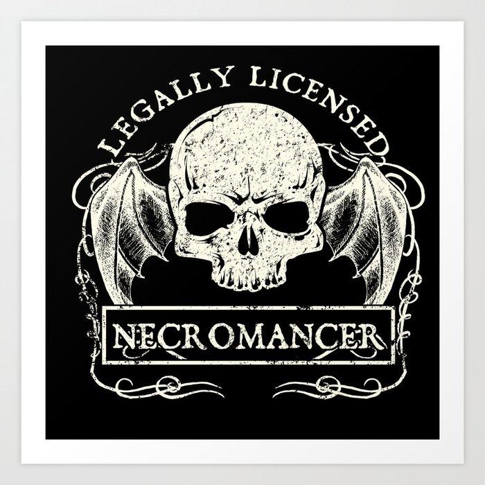 Legally Licensed Necromancer Art Print