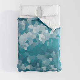 Blue Ocean Waves Crystals Pattern Abstract Art  Comforters