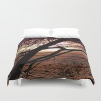 bebop Duvet Covers featuring Early morning beach walks are filled with treasures by Donuts
