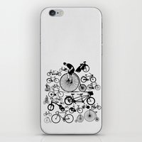 bicycles iPhone & iPod Skins featuring Bicycles by Ewan Arnolda