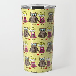 The Fun Owls Yellow Travel Mug