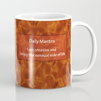 chakra Mugs featuring Sacral Chakra  by Gypsy Owl Productions