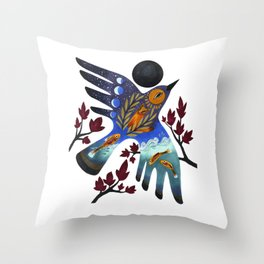 Life Cycles Throw Pillow