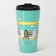 Amsterdam Canal Houses Travel Mug