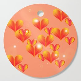 Floating and flying hearts. Cutting Board