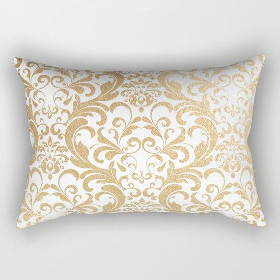 Gold swirls damask #2 Rectangular Pillow