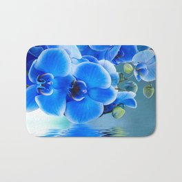 Blue Orchids Bath Mat