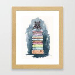 The Throne of the Cat Framed Art Print