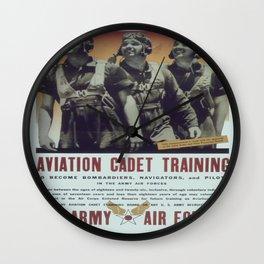 Vintage poster - Aviation Cadet Training Wall Clock