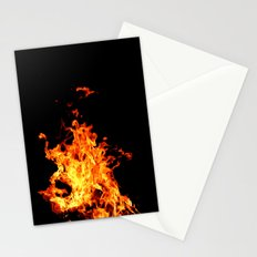 Fire Element Flames Bold Orange Red Yellow Brilliant Color Modern Art Photography Stationery Cards