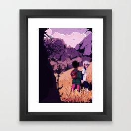 gon and killua Framed Art Print