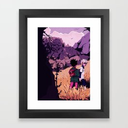 gon and killua Framed Art Print