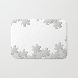 Puzzle white Bath Mat
