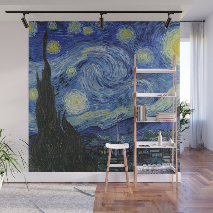 Starry Night by Vincent van Gogh Wall Mural by palazzoartgallery ...