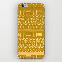 Mud Cloth on Mustard iPhone Skin