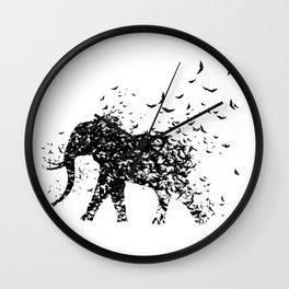 Save the Elephants fading away Wall Clock