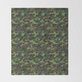 U.S. Woodland Camo Throw Blanket