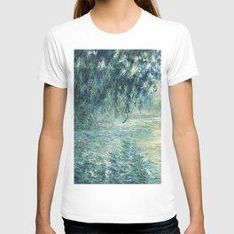 1898-Claude Monet-Morning on the Seine- 73 x 91 T-shirt