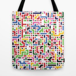 Psychedelic rounded squares and rectangles Tote Bag