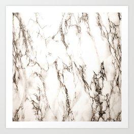 Brown Veined Marble Art Print