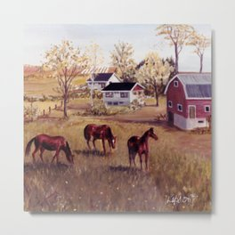 Nova Scotia, CANADA                             by Kay Lipton Metal Print