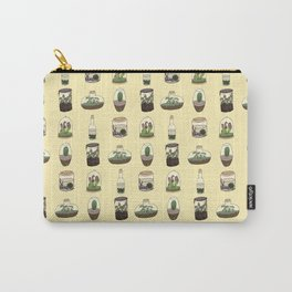 Terrarium pattern (yellow) Carry-All Pouch