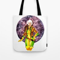 rogue Tote Bags featuring Rogue by Doodleholic