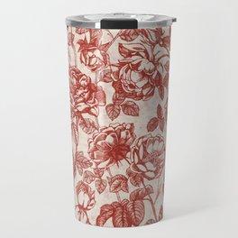 Toile de jouy (Roses) Travel Mug