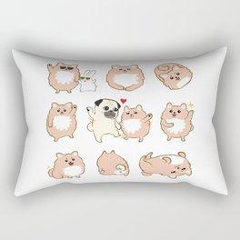 Happy dogs, Happy Life Rectangular Pillow