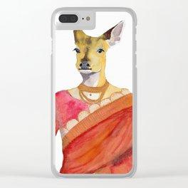 Chital in Sari Clear iPhone Case