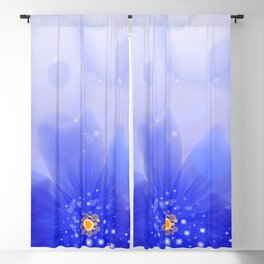 Abstract floral background Blackout Curtain