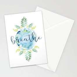 Breathe - Watercolor Stationery Cards