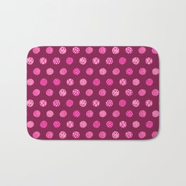 Patterned Dots Bath Mat
